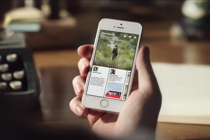Facebook Paper iOS app on iPhone 5s