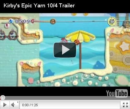 Here's another Kirby's Epic Yarn Trailer 2