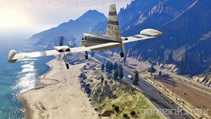 GTA V contains the largest skybox Rockstar has ever created for a game, giving you plenty of room to fly planes around