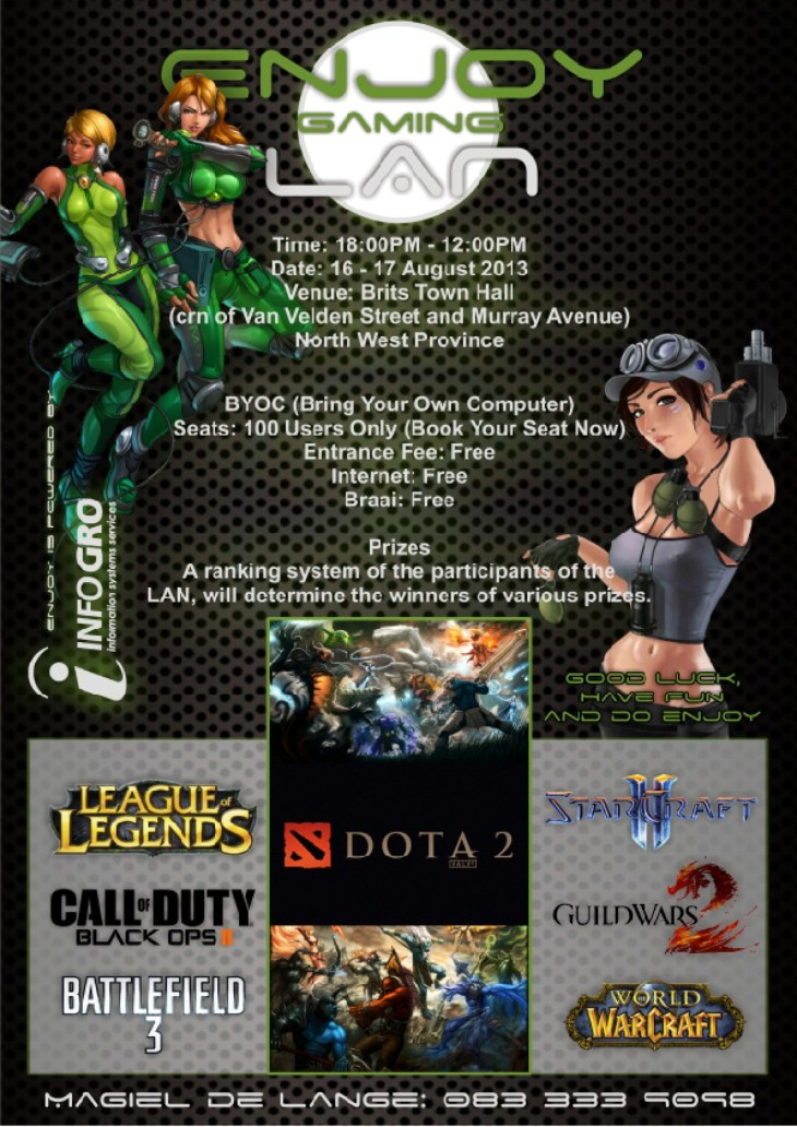 Support a local LAN and Dota 2 competition 2