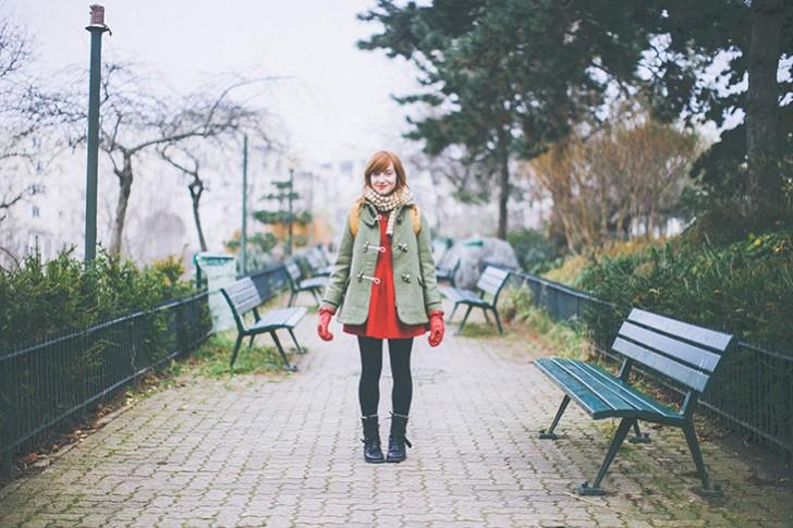 robe rouge kaki-7