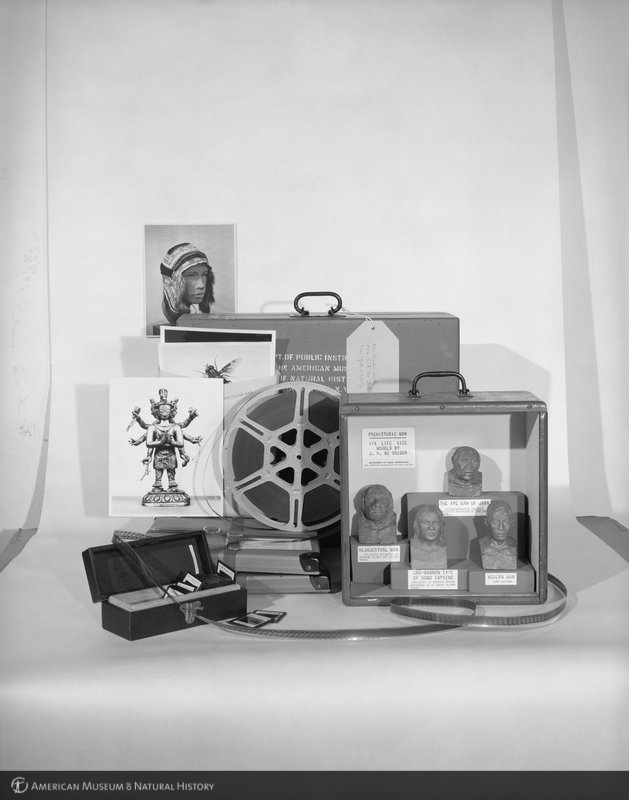 ID: 325321<br>Photographs, film reel, slides, and miniature busts, 1957