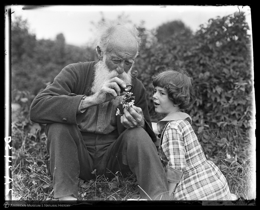 ID: 2A2430<br>John Burroughs and child, New York