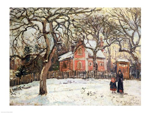 Chestnut Trees at Louveciennes, c.1871-2 by Camille Pissarro