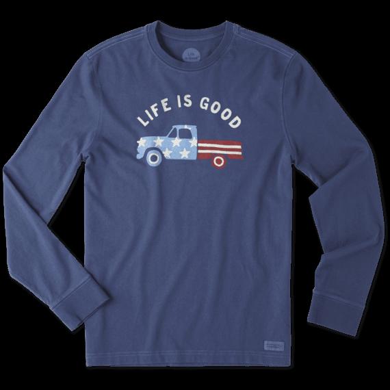 Men's Flag Truck Long Sleeve Crusher Tee