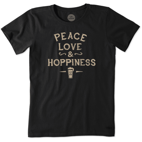Women's Peace, Love, and Hoppiness Crusher Tee