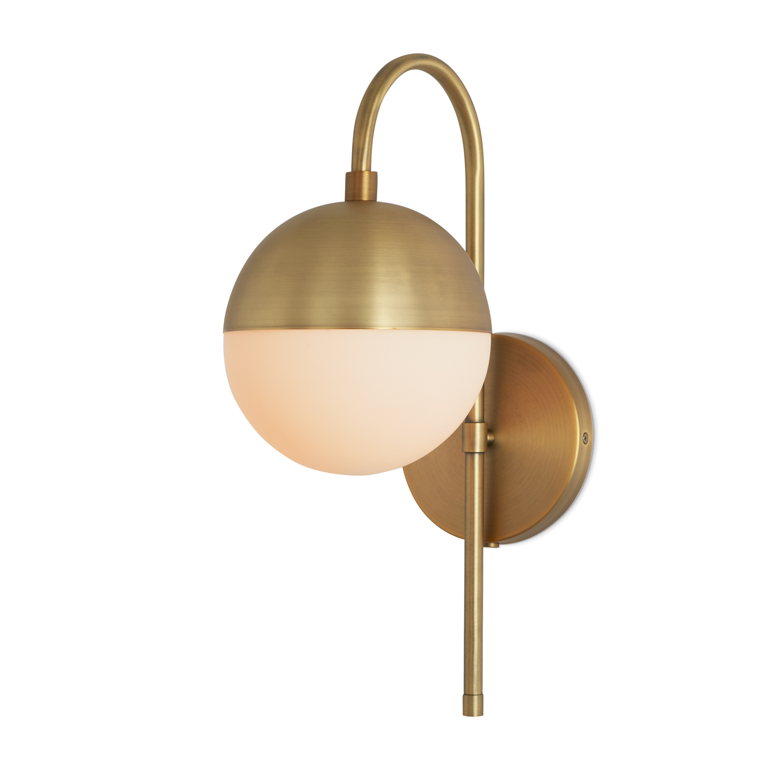 Lights.com | Wall Lights | Powell Wall Sconce with Hooded ... on Brass Wall Sconces Non Electric Lighting id=15111