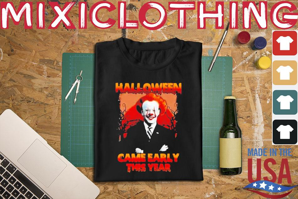 While we receive compensation when you click links to partners, they do not i. Halloween 2021 Biden Pennywise came early this year shirt, hoodie, sweater, long sleeve and tank top