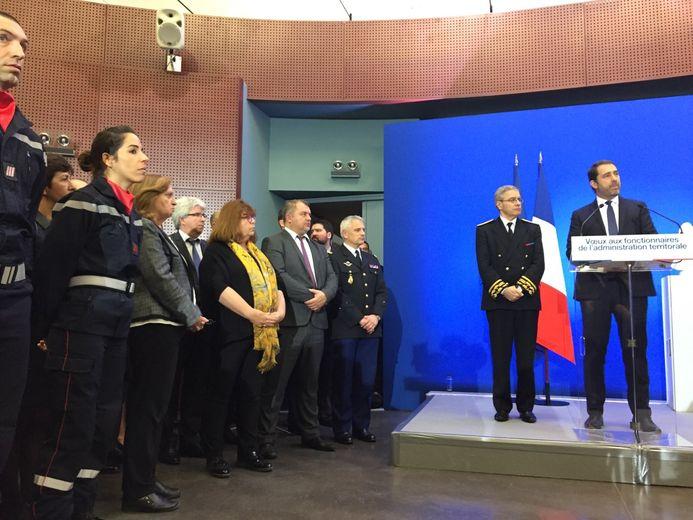 Les députés de LAREM, Mireille Robert et Alain Péréa, également présents et salués par le ministre.