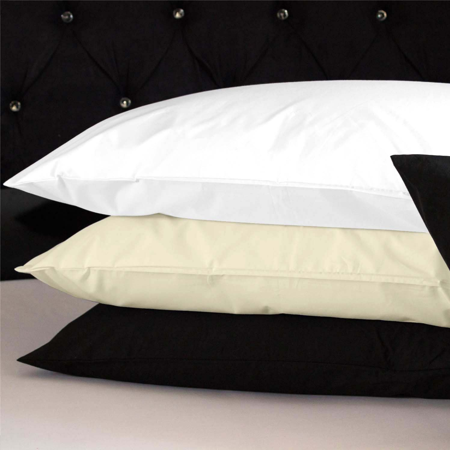 100 Cotton Fitted Bed Sheets Pillow Cases Single Double