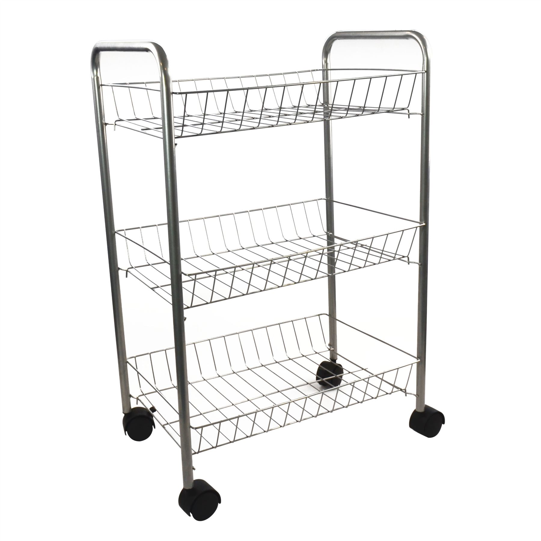 3 Tier Metal Kitchen Storage Trolley Vegetable Fruit Cart