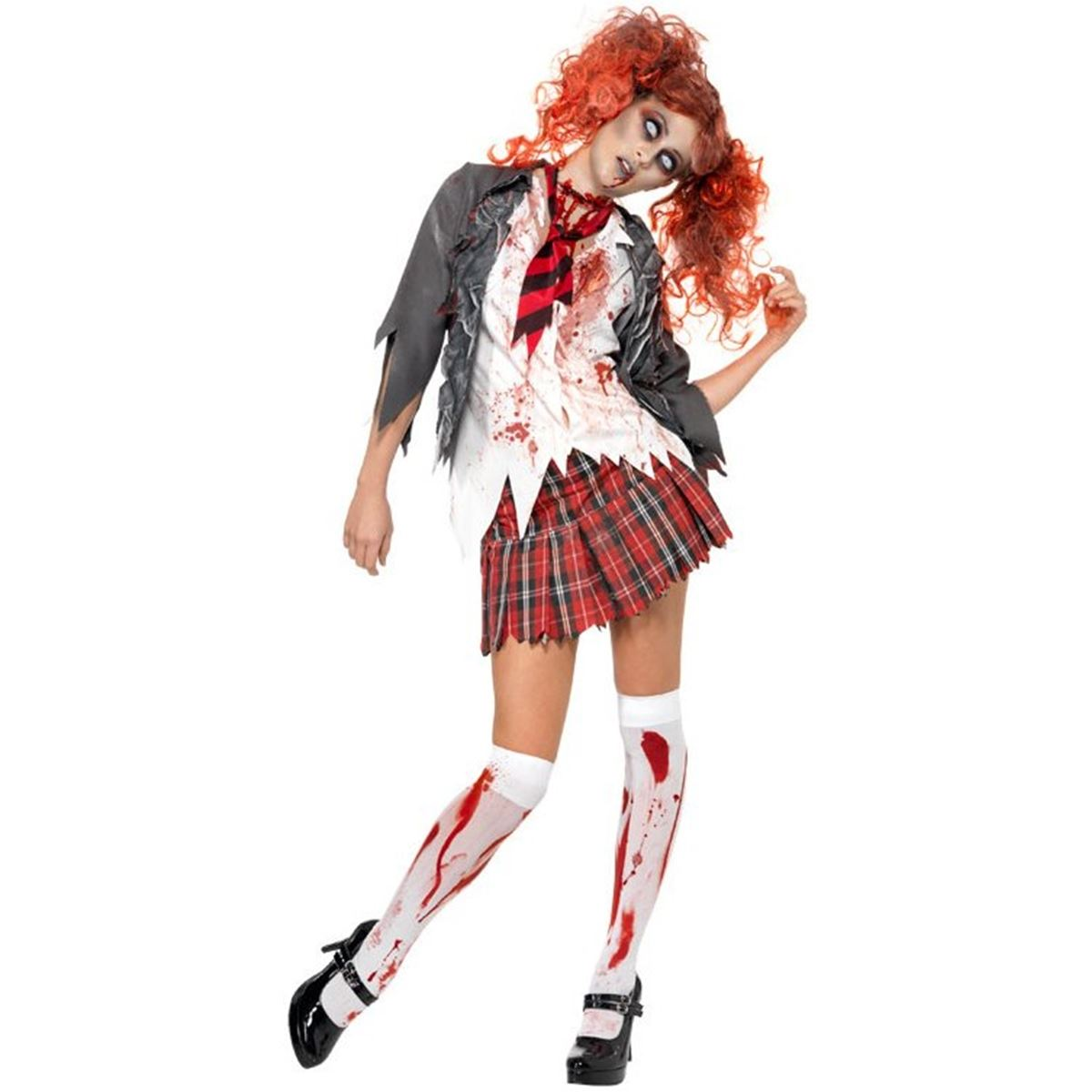 High School Horror Bloody Zombie School Girl Costume