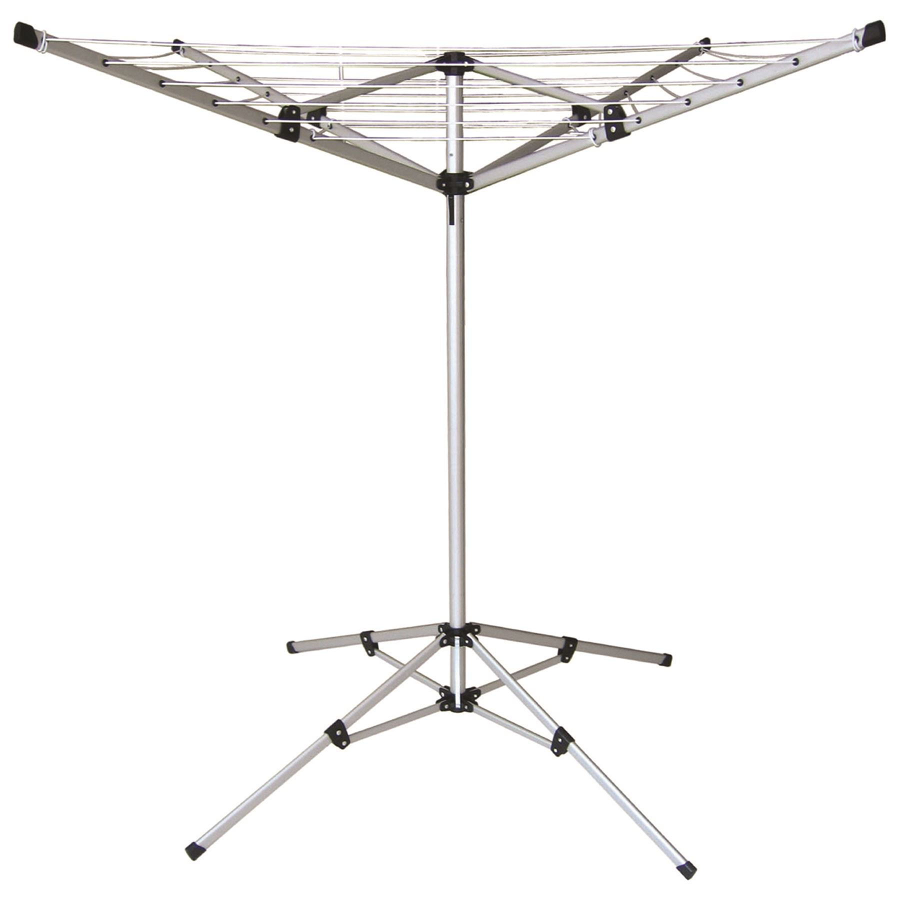 4 Arm Portable Aluminium Rotary Airer Clothes Line Camping
