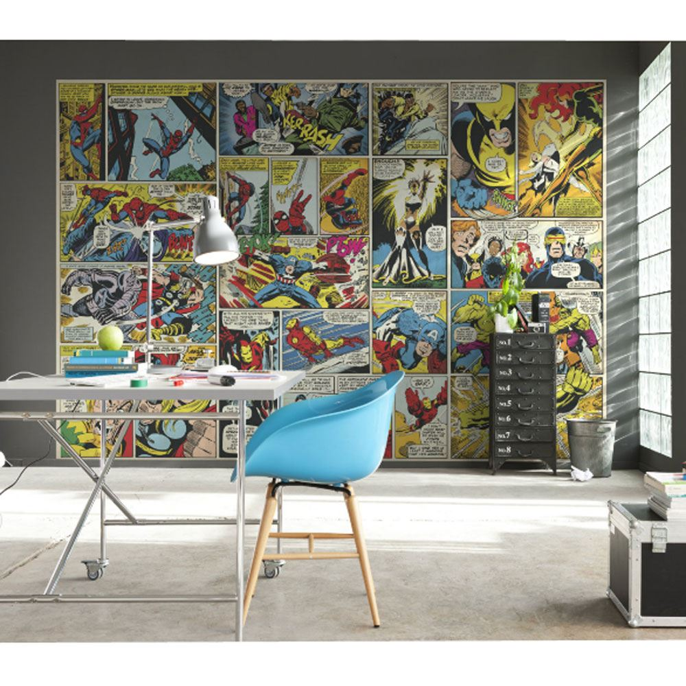 Papier Mural Dcor Chambre Papier Peint Marvel Comics And