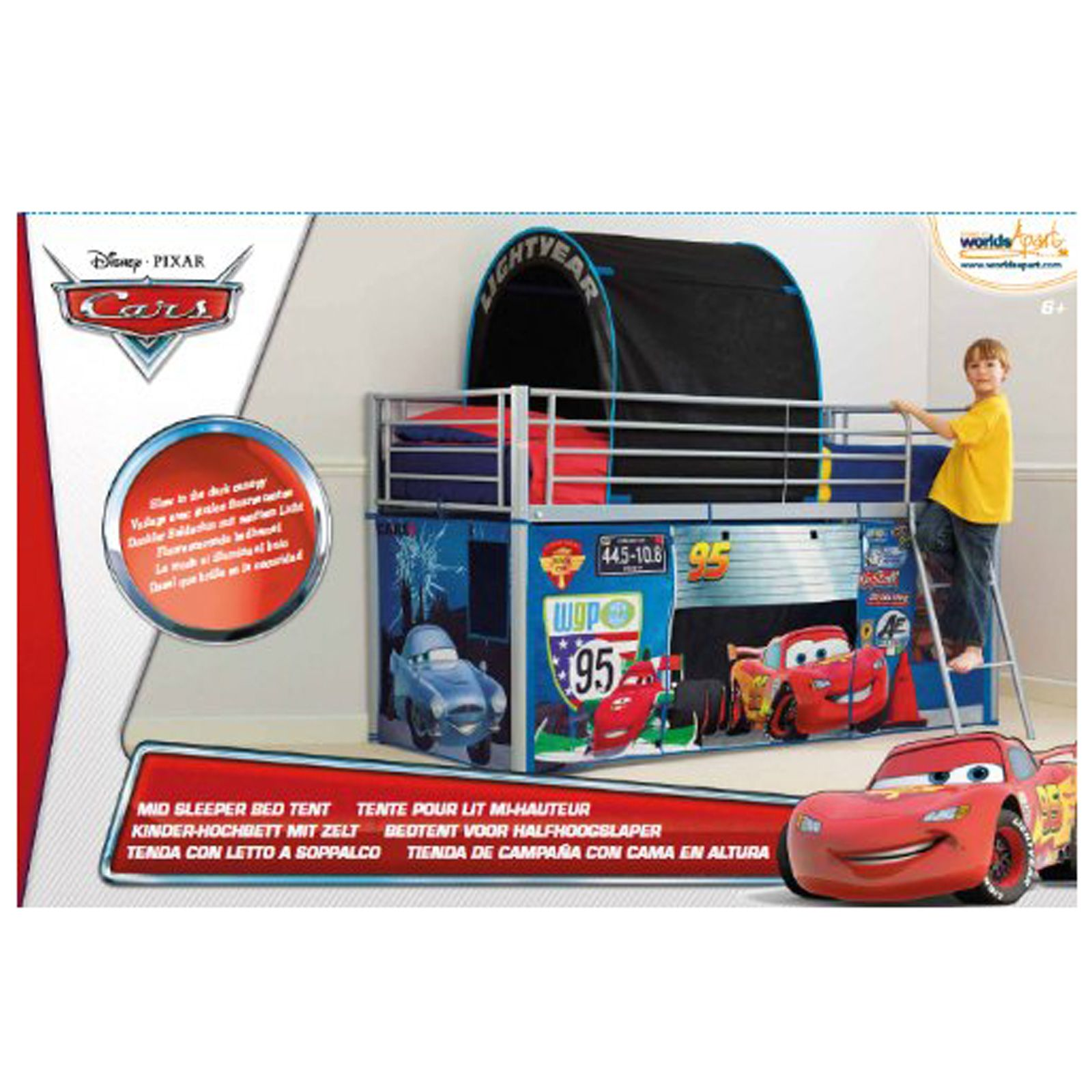 Disney Cars Mid Sleeper Cabin Bed Tent New Free P P
