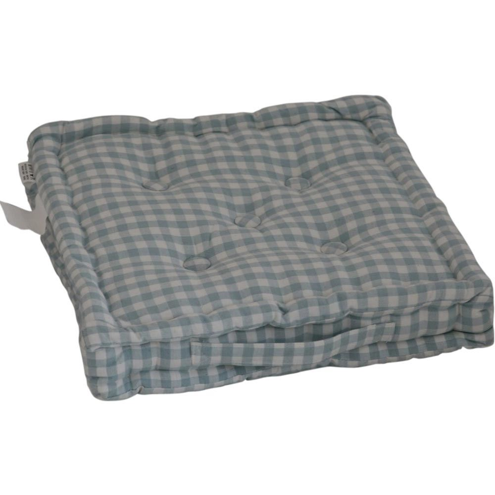 Gingham Check Large Floor Cushions Outdoor Garden Dining