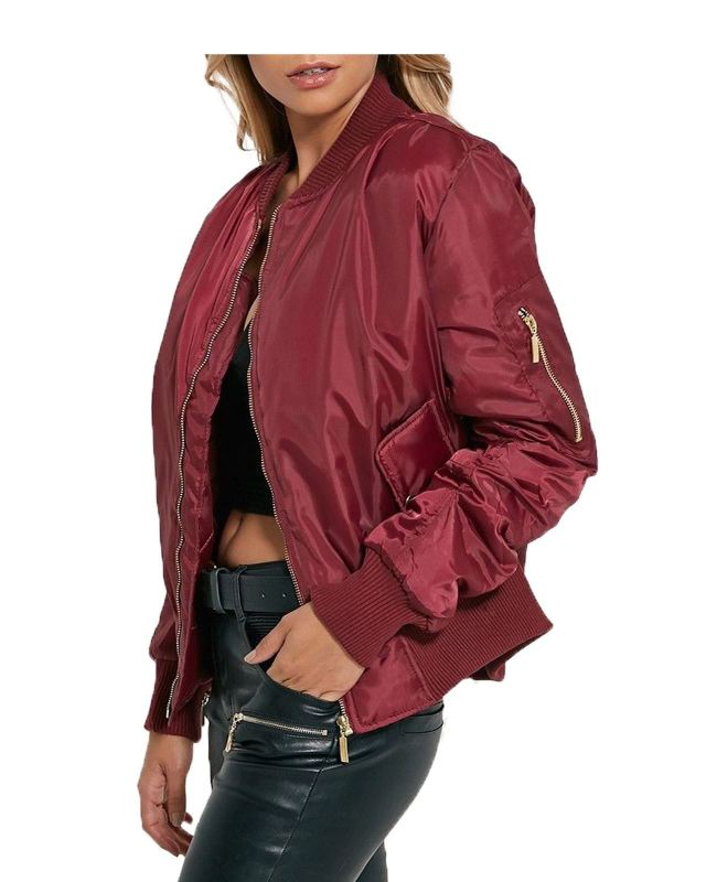 Details about LADIES WOMEN MA1 BOMBER FLIGHT JACKET MILITARY VINTAGE ...