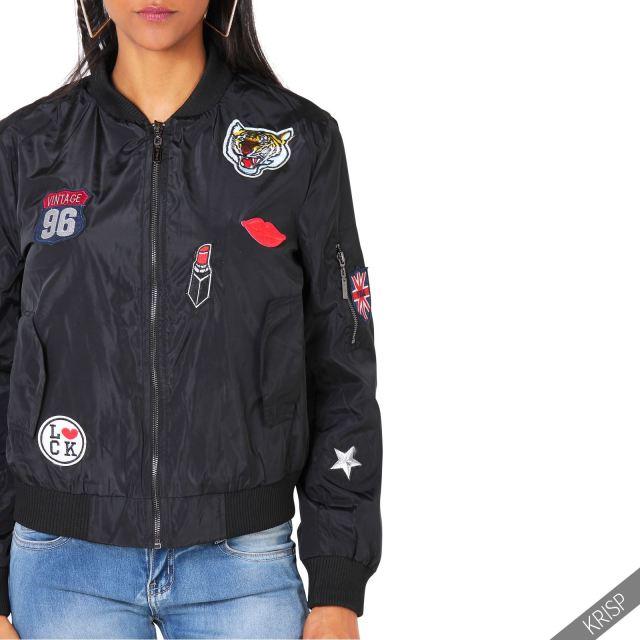 ... -Army-Patch-Bomber-Jacket-Vintage-Military-Light-Summer-Biker-Coat