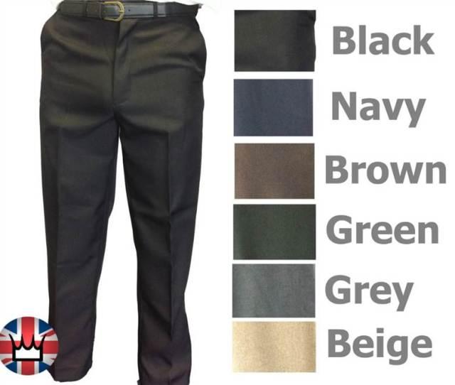 Wwk Mens Trousers Formal Smart Pants Wear Clothing