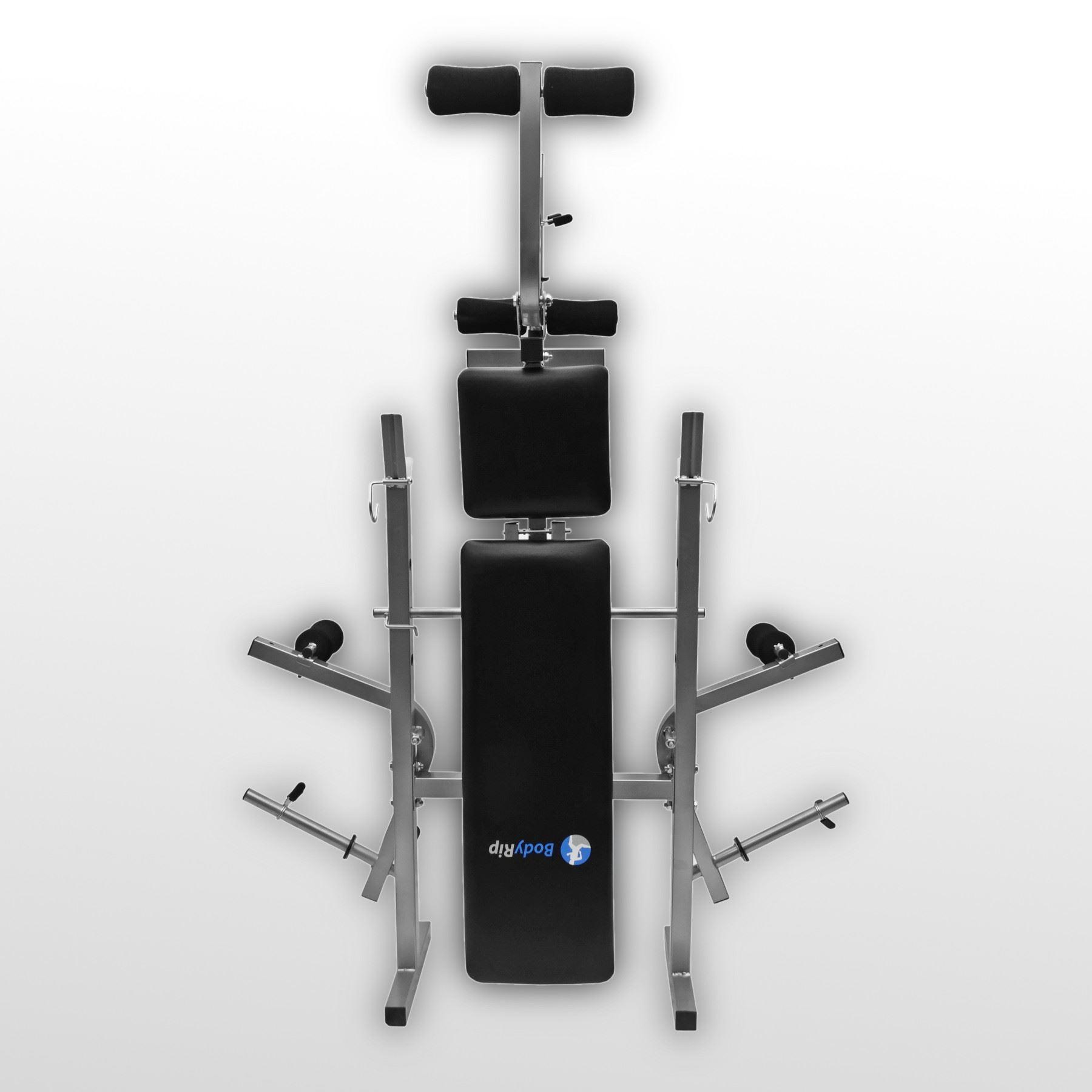 Bodyrip Easy Folding Weight Bench Weight Rack Incline