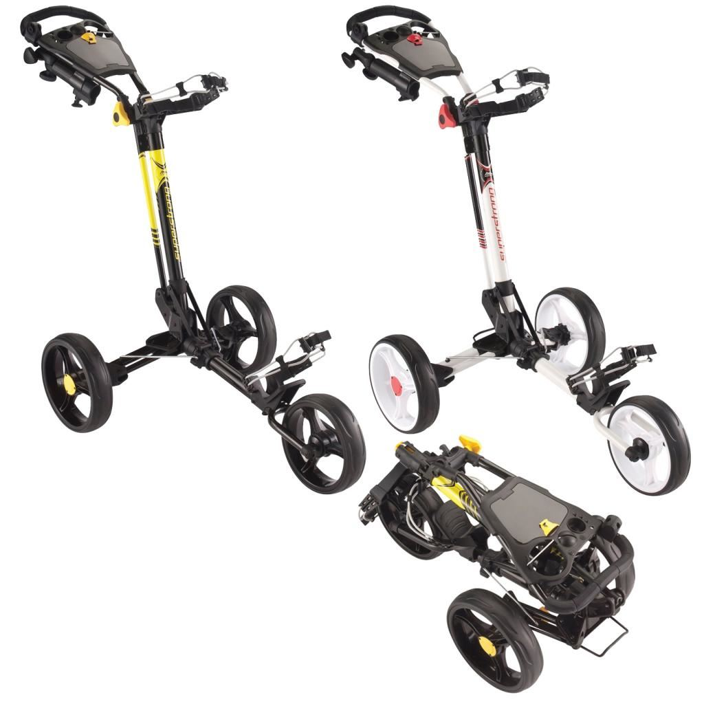 Md Golf Deluxe Superstrong Cart Pull Push 3wheel Golf