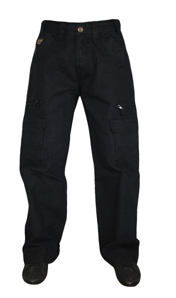 Mens Kam Jeans Cargo Pants Trousers Chinos Relaxed Fit Big ...