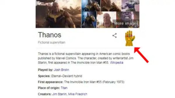 Résultats de recherche d'images pour «thanos in google gauntlet»