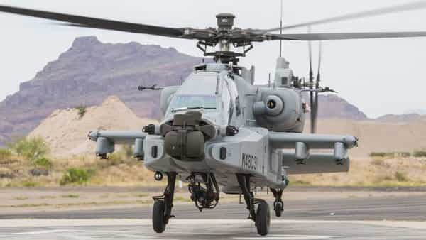 India gets its first Apache helicopter. Photo: Twitter/@IAF_MCC