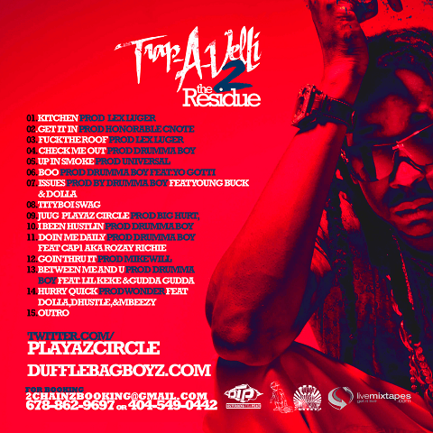Bigga Rankin Tity Boi Trap-A-Velli 2 Mixtape Back Cover