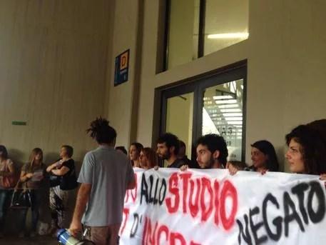 Università Palermo, protesta studenti