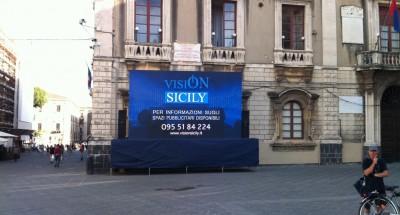 vision maxi schermo catania