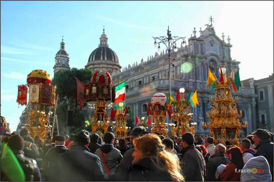 Candelore piazza Duomo