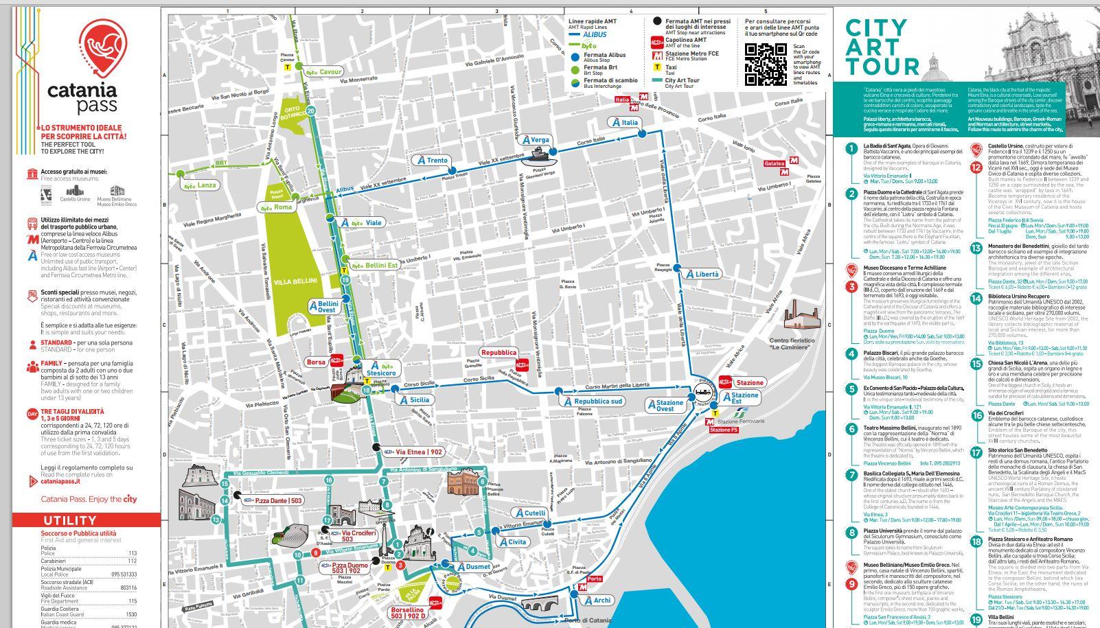 Cartina Della Sicilia Turistica.Turismo Catania Online Nuova Mappa Stampabile Della Citta