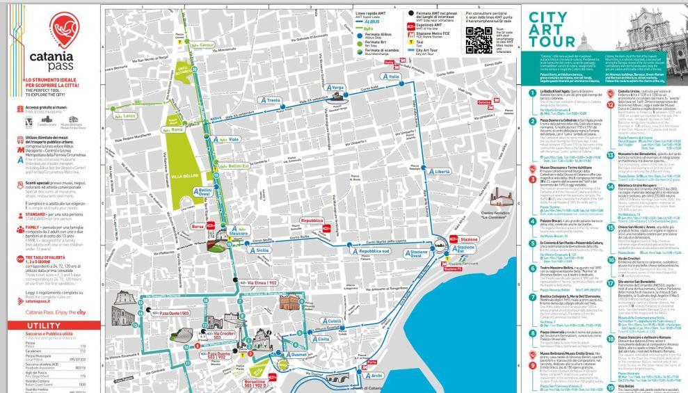 Cartina Italia Catania.Turismo Catania Online Nuova Mappa Stampabile Della Citta Liveunict