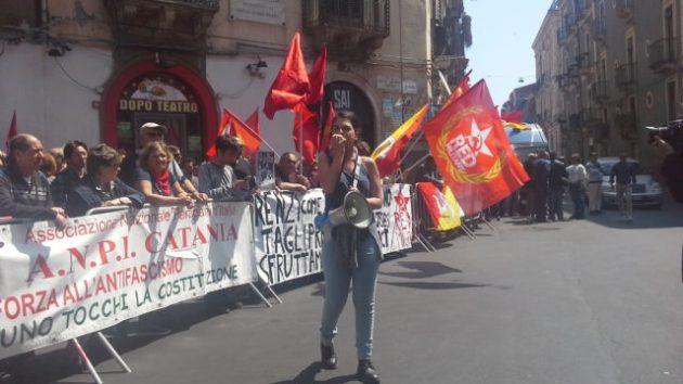 protesta matteo renzi