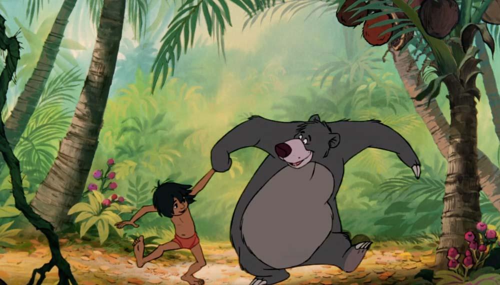 Mowgli baloo art by brian blackmore cartoni animati il libro