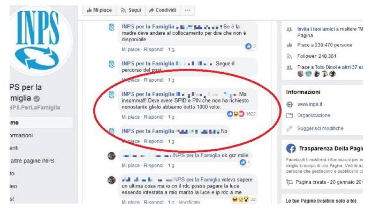 Inps Per La Famiglia Il Social Manager Sbotta E I Commenti Diventano Virali Foto Liveunict