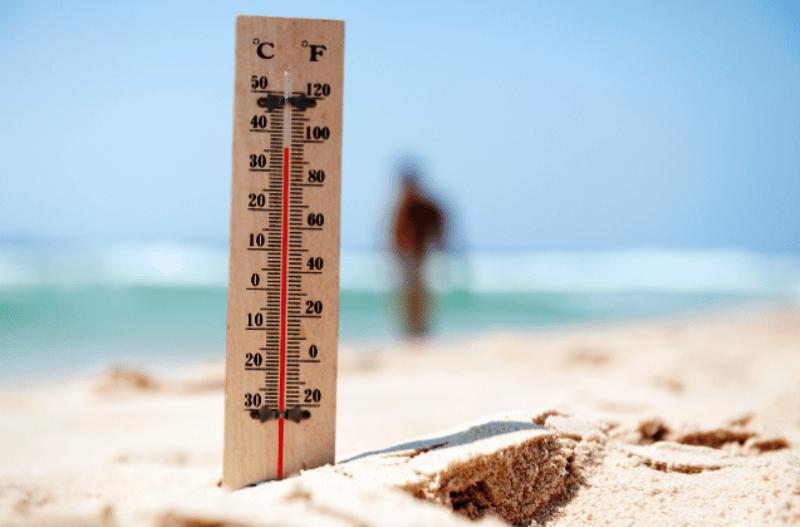 meteo catania termometro in spiaggia
