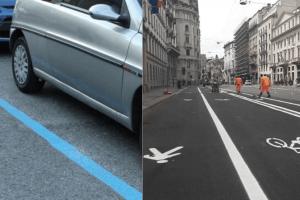 Strisce blu a Catania e piste ciclabili d'emergenza a Milano