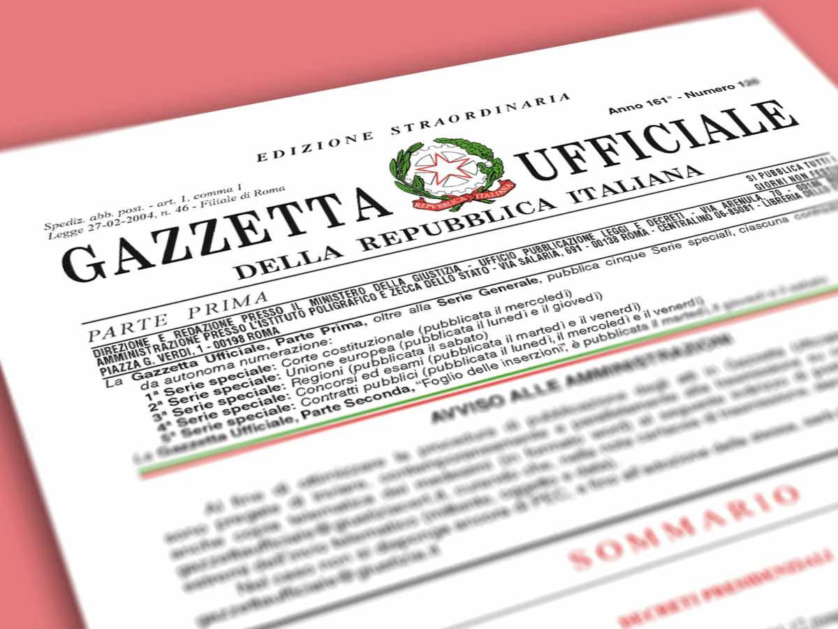 Gazzetta Ufficiale, pubblicato il Decreto Rilancio: scarica il pdf del ...