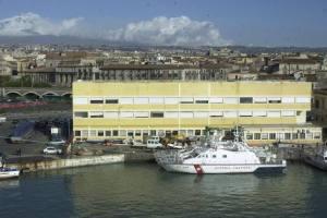 Lavori al porto di Catania