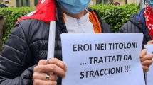 infermieri in protesta