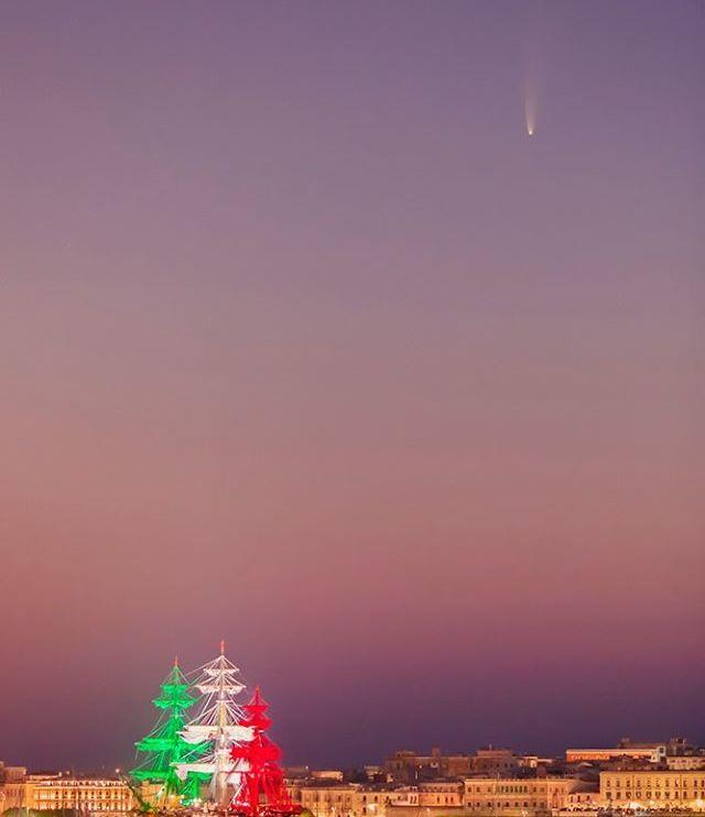 amerigo vespucci cometa sicilia