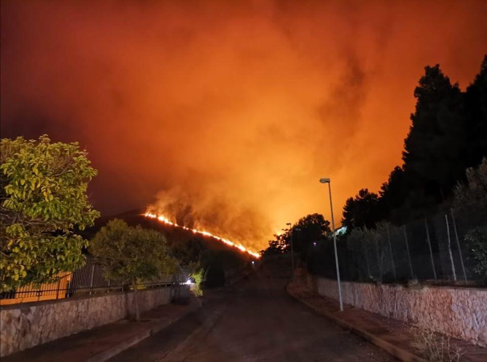 incendio monreale