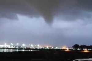 video tromba d'aria aeroporto Catania