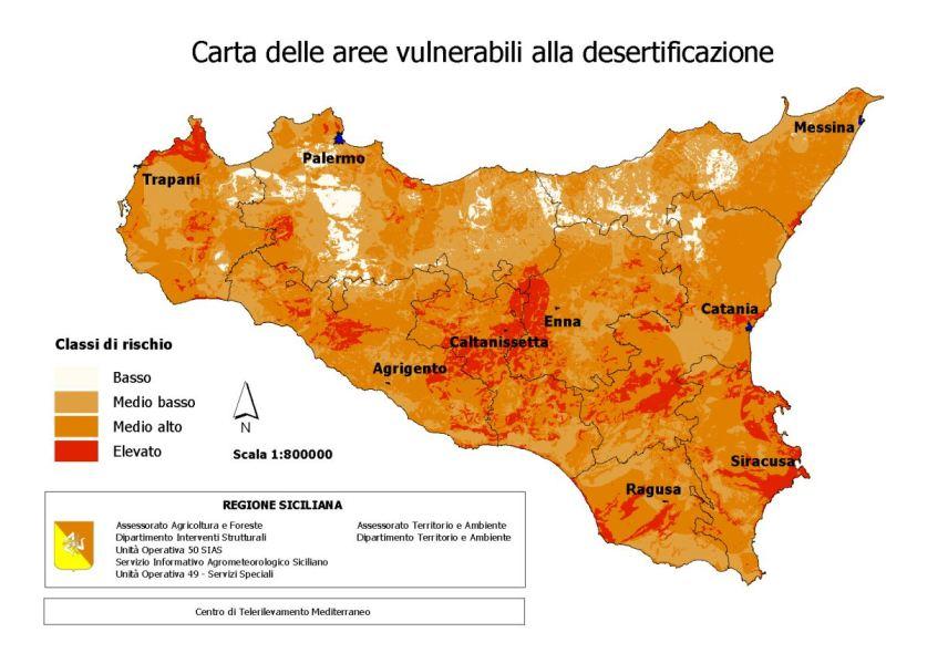 carta desertificazione Sicilia