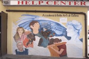 Murales all'help Center di Catania