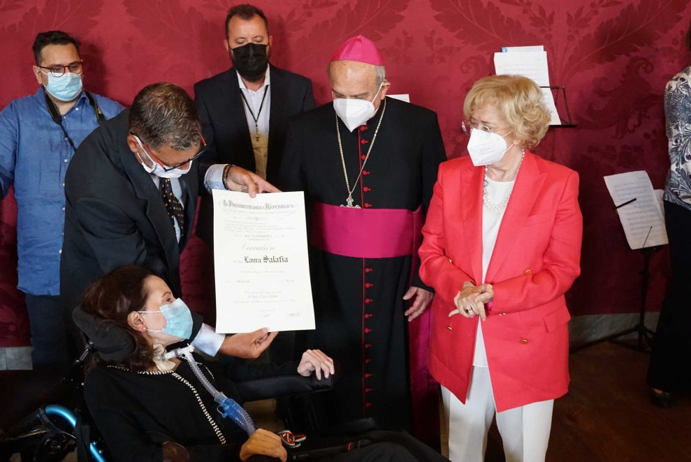 Laura Salafia premiata dell'onorificenza al merito della Repubblica