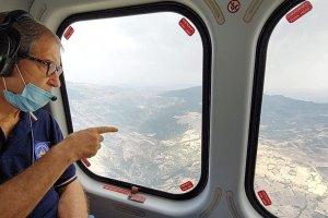 Nello Musumeci in elicottero