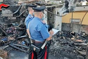 incendio a Catania